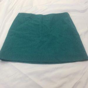 J. Crew Blue Wool Mini Skirt